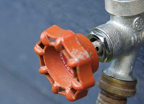 outdoor water spicket