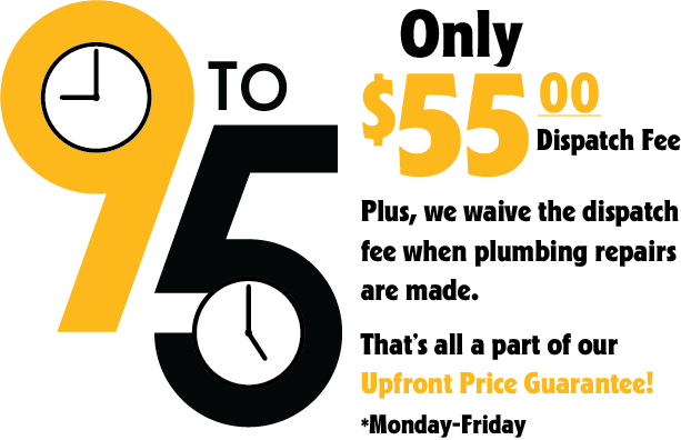 9 to 5 - Only $55 dispatch fee air conditioning